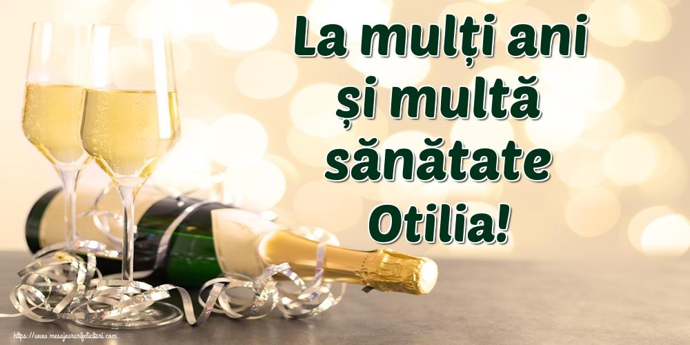 Felicitari de la multi ani - La mulți ani și multă sănătate Otilia!