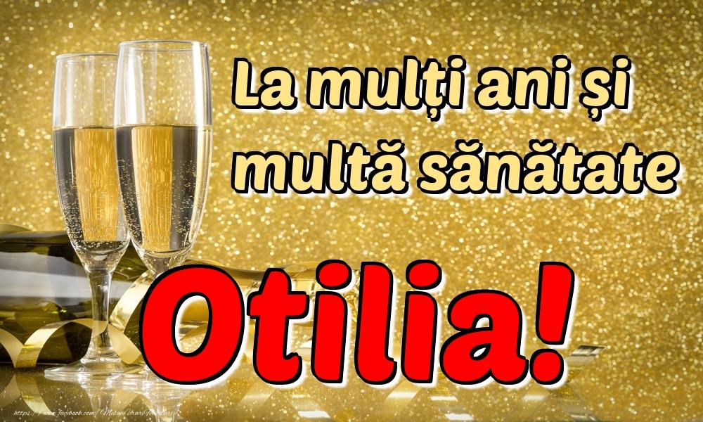 Felicitari de la multi ani - La mulți ani multă sănătate Otilia!