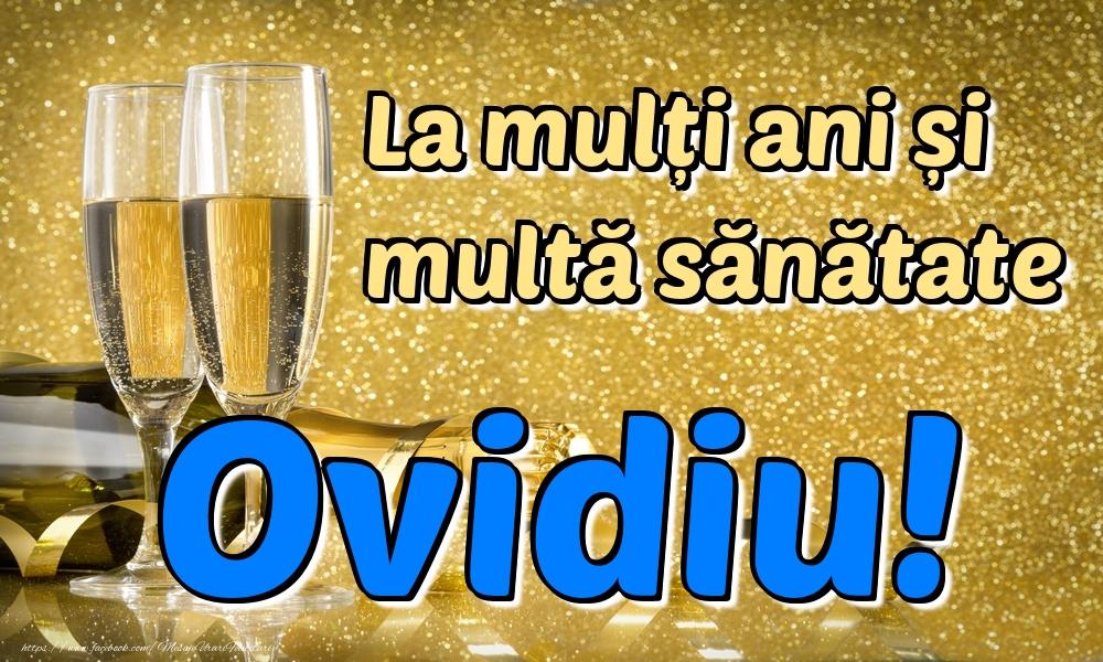 Felicitari de la multi ani - La mulți ani multă sănătate Ovidiu!