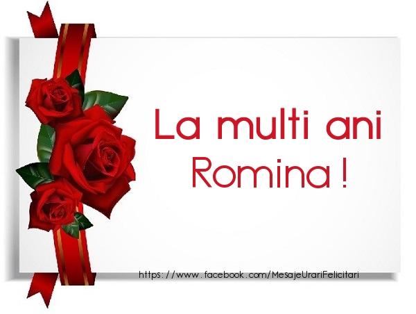 Felicitari de la multi ani - La multi ani Romina