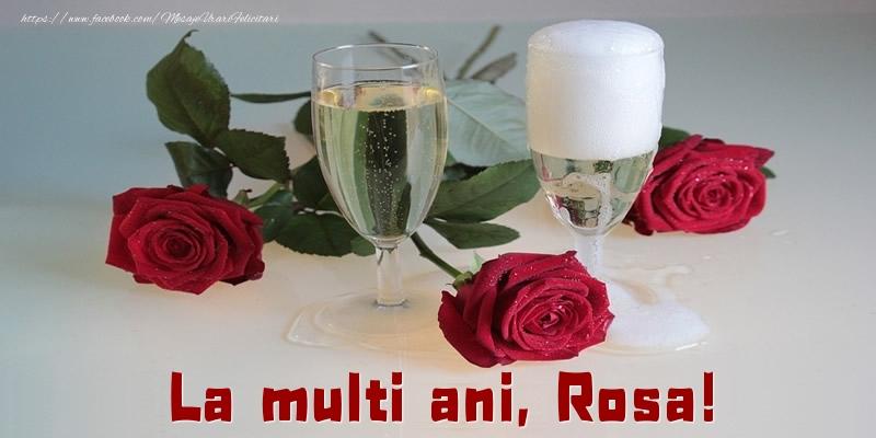 Felicitari de la multi ani - La multi ani, Rosa!