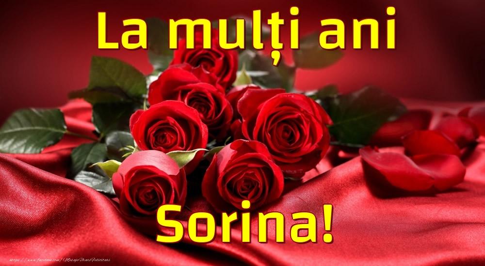 Felicitari de la multi ani - La mulți ani Sorina!