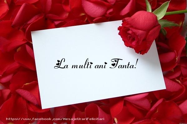 Felicitari de la multi ani - La multi ani Tanta!
