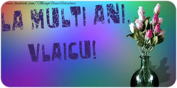 Felicitari de la multi ani - La multi ani, Vlaicu