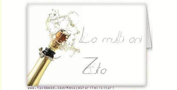 Felicitari de la multi ani - La multi ani, Zita