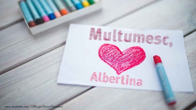 Felicitari de multumire - Multumesc, Albertina