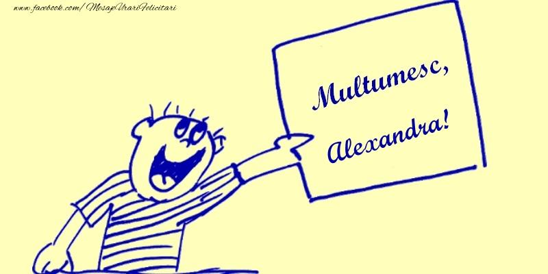 Felicitari de multumire - Multumesc, Alexandra