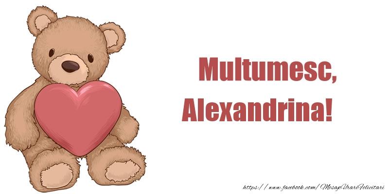 Felicitari de multumire - Multumesc, Alexandrina!