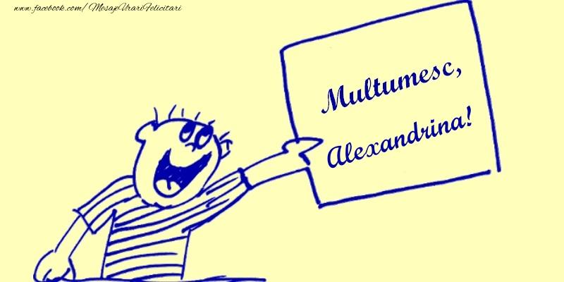 Felicitari de multumire - Multumesc, Alexandrina