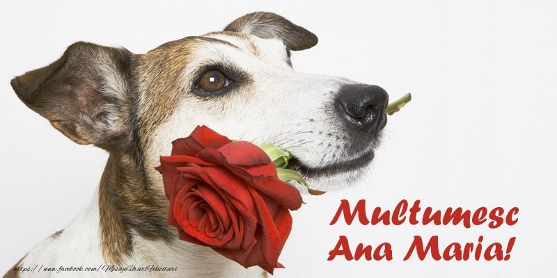 Felicitari de multumire - Multumesc Ana Maria!