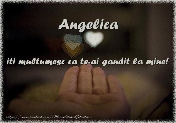 Felicitari de multumire - Angelica iti multumesc ca te-ai gandit la mine!