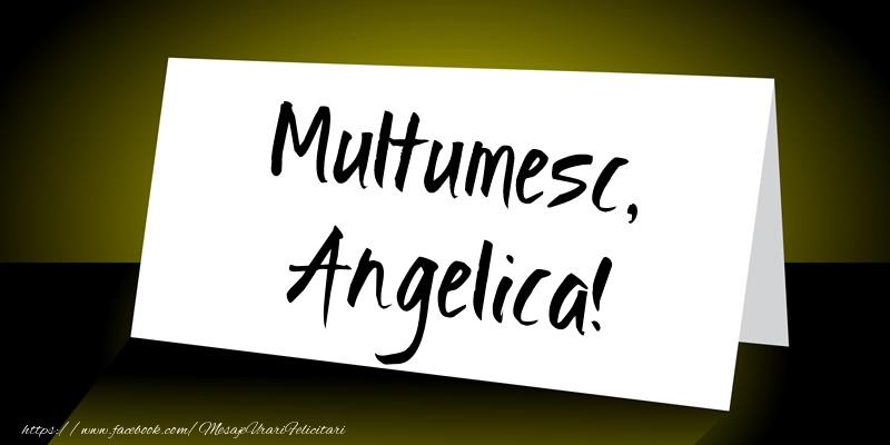 Felicitari de multumire - Multumesc, Angelica!