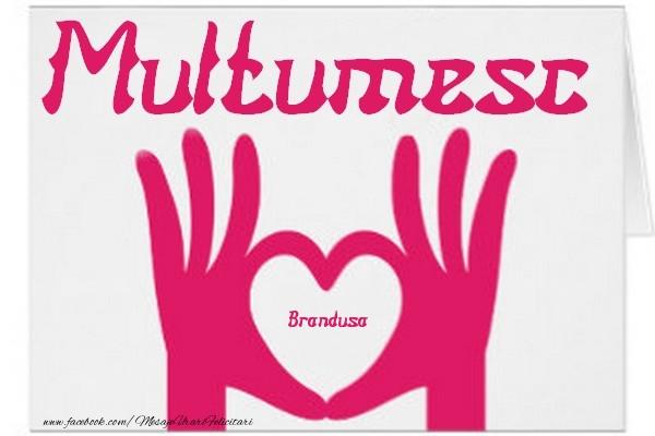 Felicitari de multumire - Multumesc, Brandusa