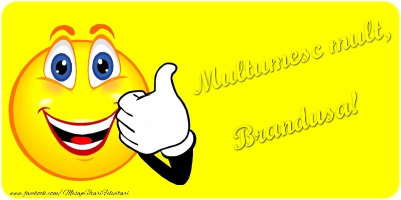 Felicitari de multumire - Multumesc mult.Brandusa
