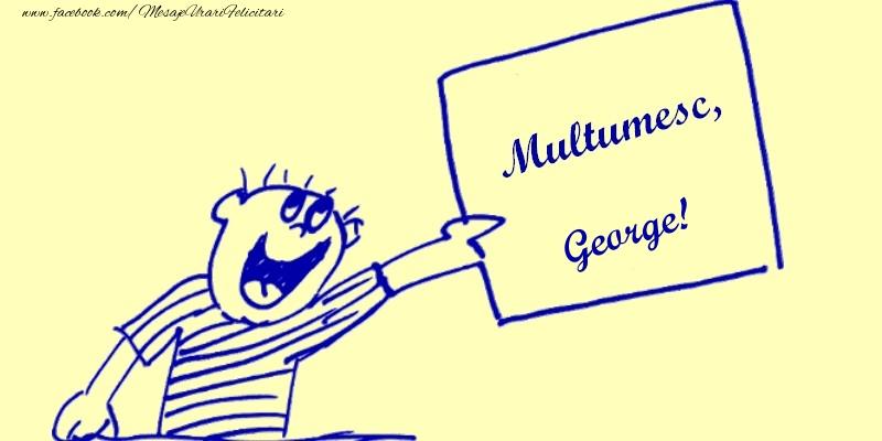 Felicitari de multumire - Multumesc, George