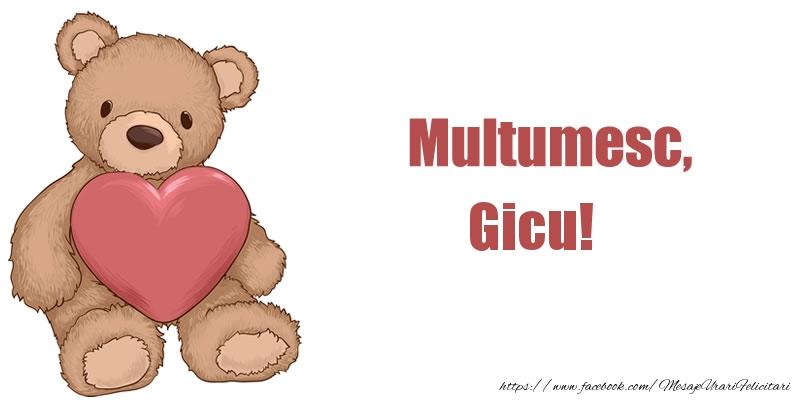 Felicitari de multumire - Multumesc, Gicu!
