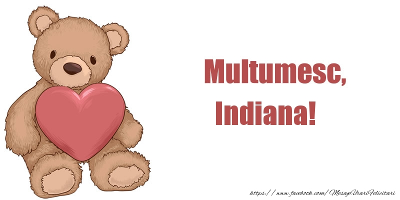 Felicitari de multumire - Multumesc, Indiana!