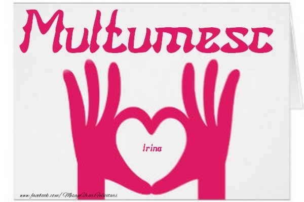 Felicitari de multumire - Multumesc, Irina