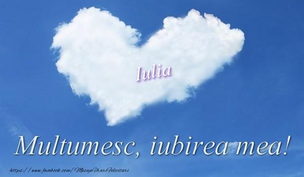 Felicitari de multumire - Iulia. Multumesc, iubirea mea!