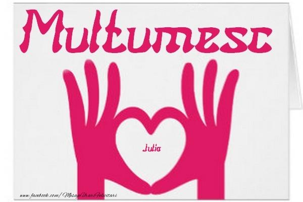 Felicitari de multumire - Multumesc, Julia