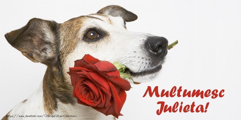Felicitari de multumire - Multumesc Julieta!