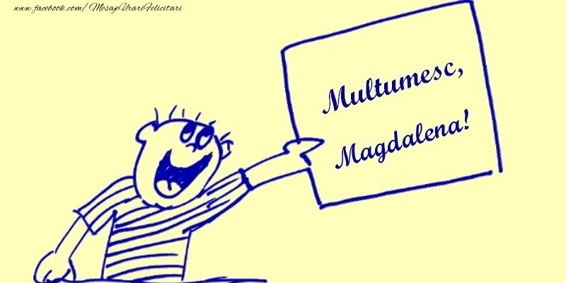 Felicitari de multumire - Multumesc, Magdalena