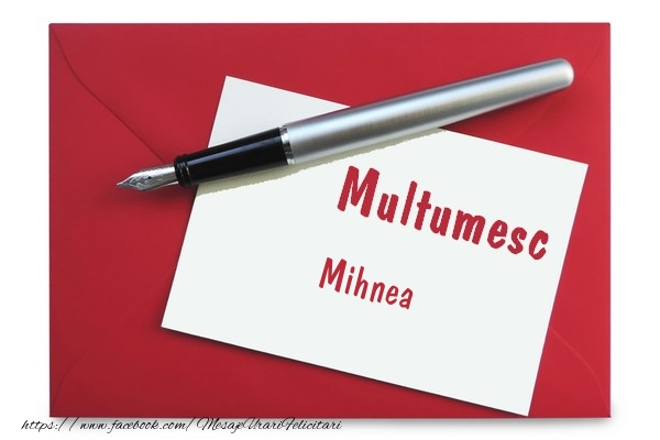 Felicitari de multumire - Multumesc Mihnea!