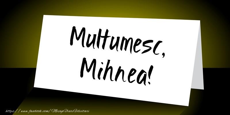 Felicitari de multumire - Multumesc, Mihnea!