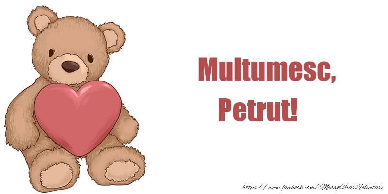 Felicitari de multumire - Multumesc, Petrut!
