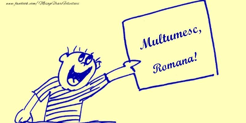 Felicitari de multumire - Multumesc, Romana