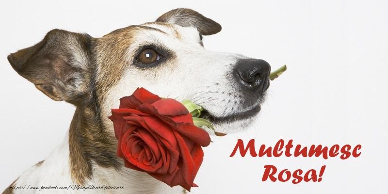 Felicitari de multumire - Multumesc Rosa!