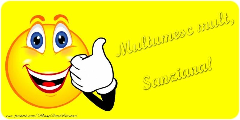 Felicitari de multumire - Multumesc mult.Sanziana
