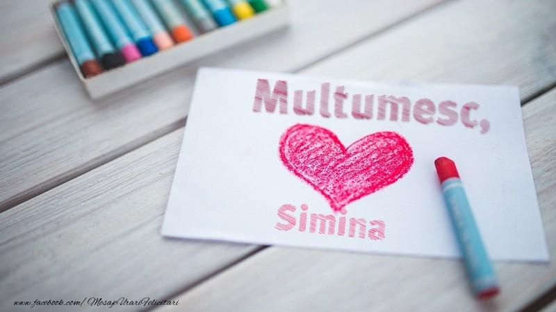 Felicitari de multumire - Multumesc, Simina