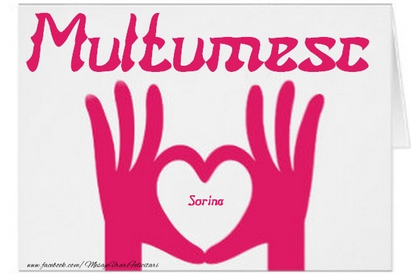 Felicitari de multumire - Multumesc, Sorina