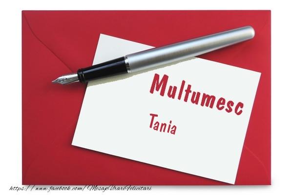 Felicitari de multumire - Multumesc Tania!