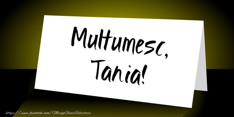 Felicitari de multumire - Multumesc, Tania!