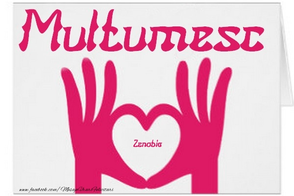 Felicitari de multumire - Multumesc, Zenobia