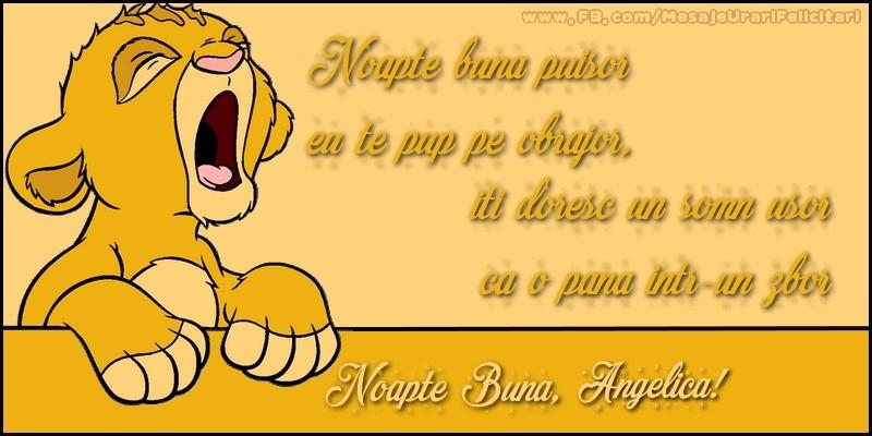 Felicitari de noapte buna - Noapte buna, Angelica!