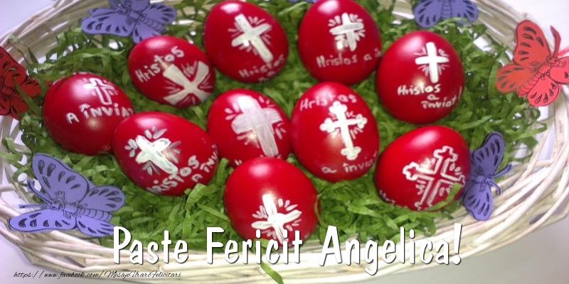 Felicitari de Paste - Paste Fericit Angelica!