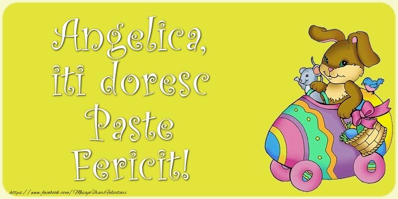 Felicitari de Paste - Angelica, iti doresc Paste Fericit!