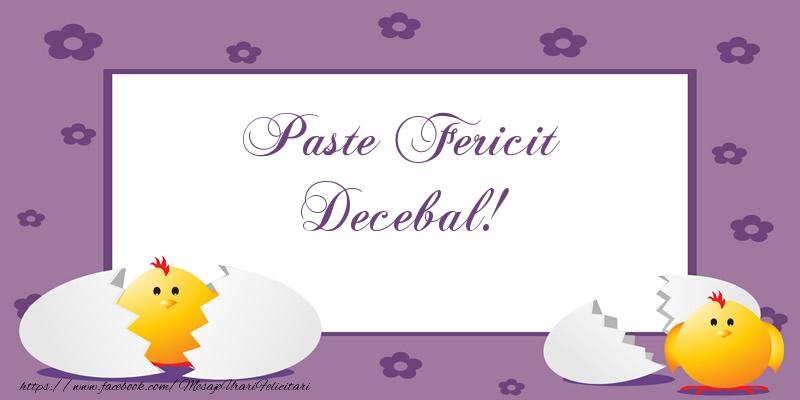 Felicitari de Paste - Paste Fericit Decebal!