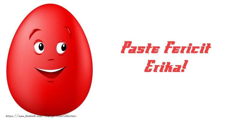 Felicitari de Paste - Paste Fericit Erika!