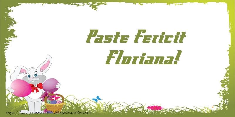 Felicitari de Paste - Paste Fericit Floriana!
