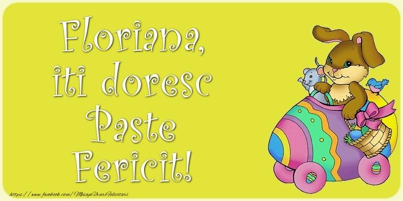 Felicitari de Paste - Floriana, iti doresc Paste Fericit!