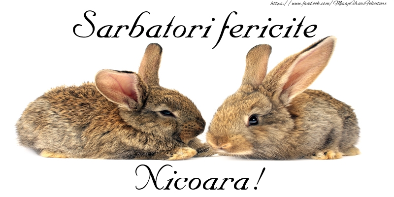 Felicitari de Paste - Sarbatori fericite Nicoara!
