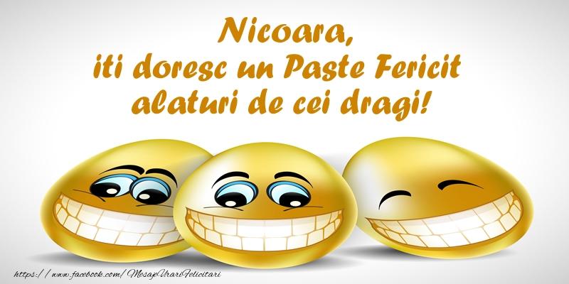 Felicitari de Paste - Nicoara iti doresc un Paste Fericit alaturi de cei dragi!