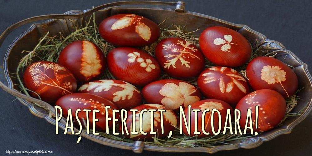 Felicitari de Paste - Paște Fericit, Nicoara!