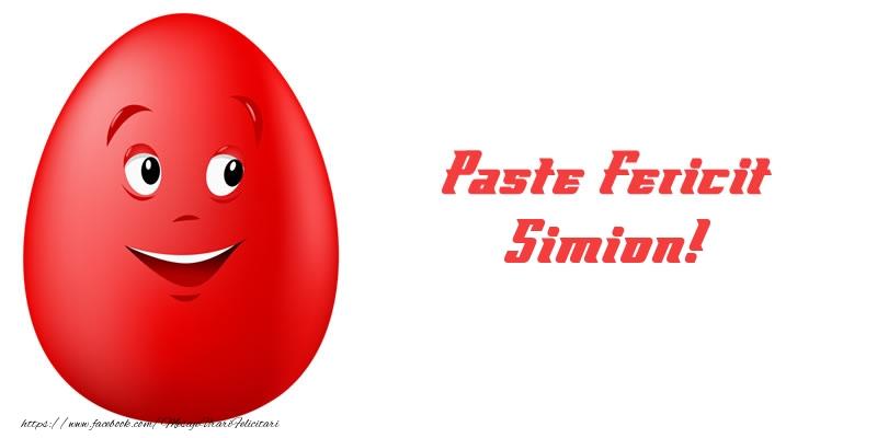 Felicitari de Paste - Paste Fericit Simion!