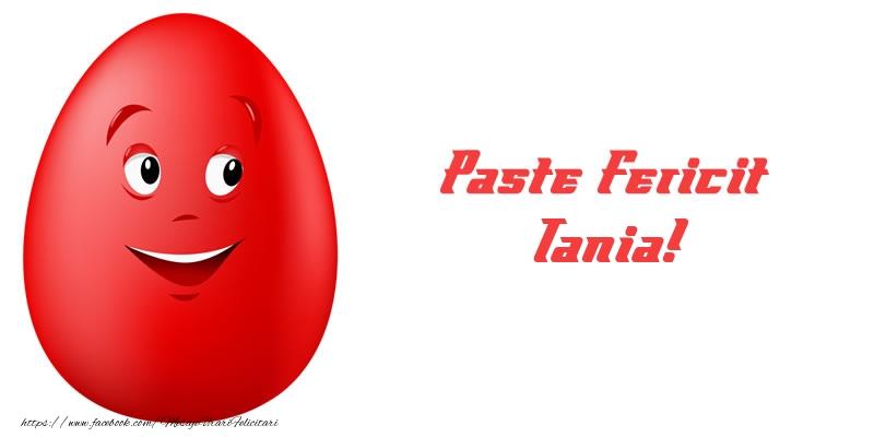 Felicitari de Paste - Paste Fericit Tania!