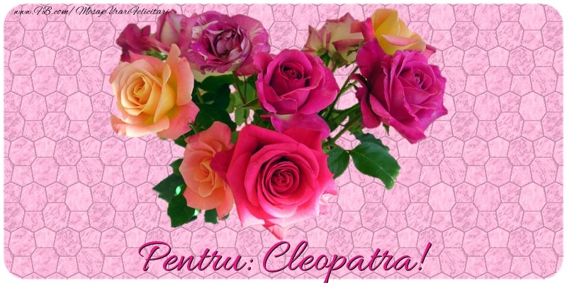 Felicitari de prietenie - Pentru Cleopatra